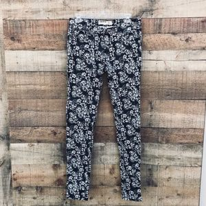 Cotton On Grey White Floral Skinny Jeans